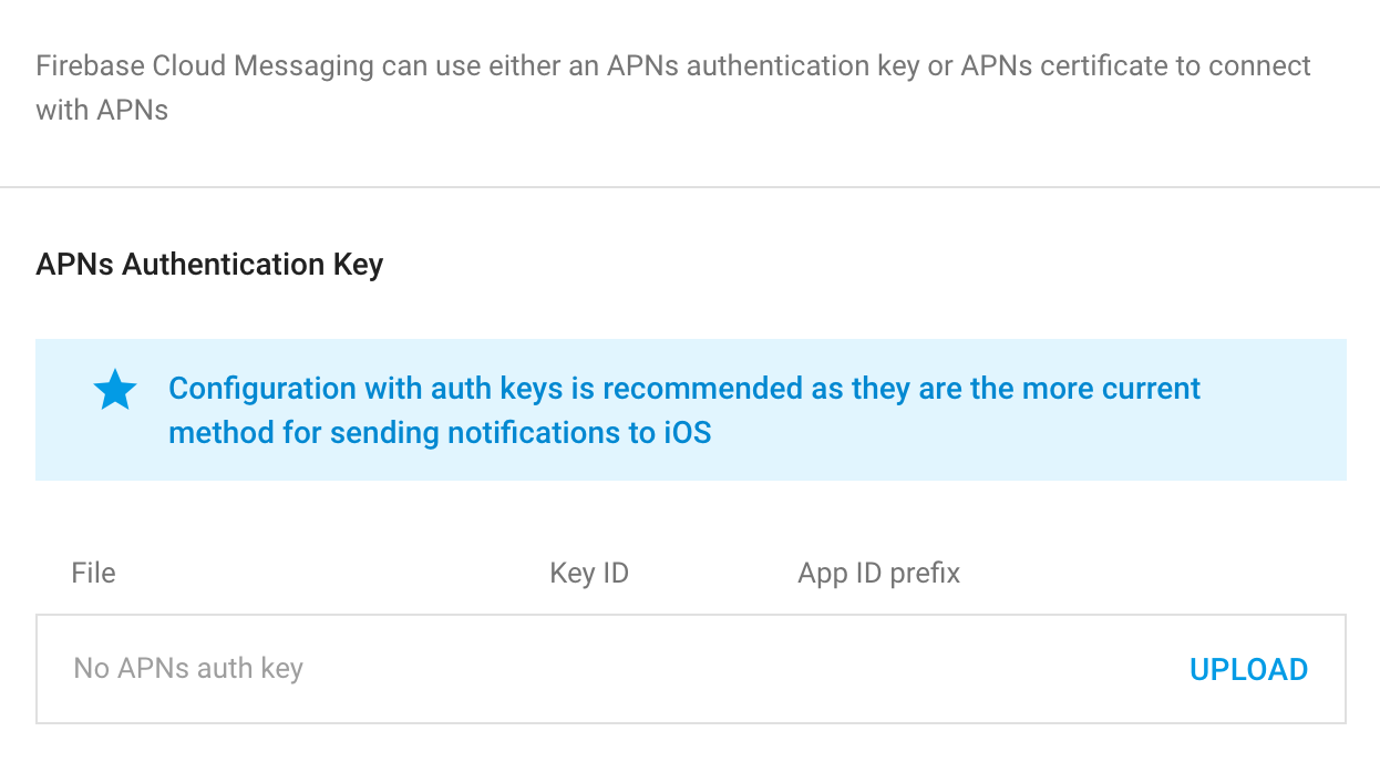 How to upload APN Auth keys to your firebase project - AndroApp