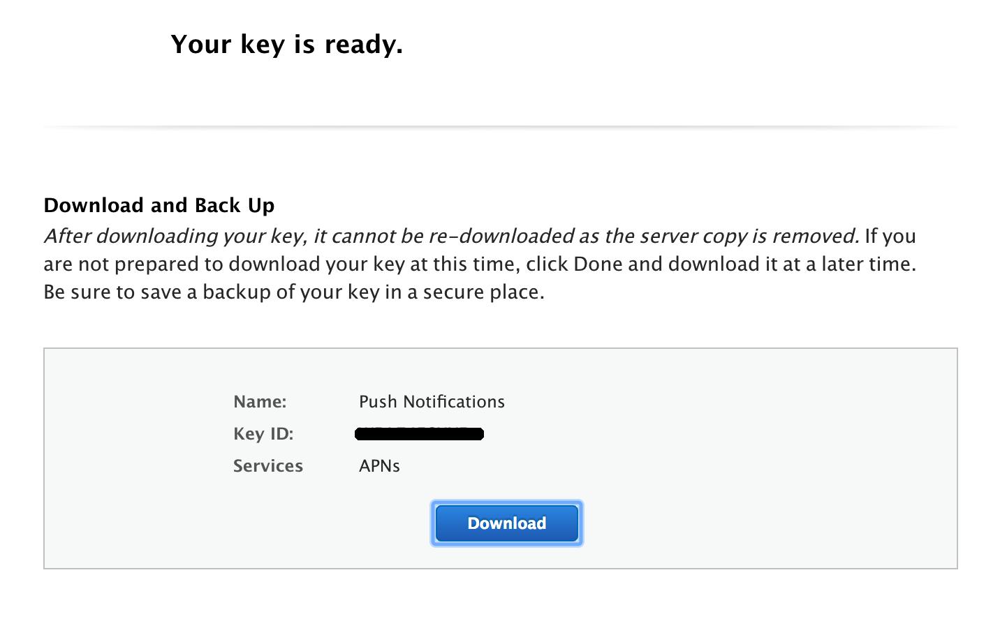 How to create APN Auth keys for IOS Push Notification - AndroApp